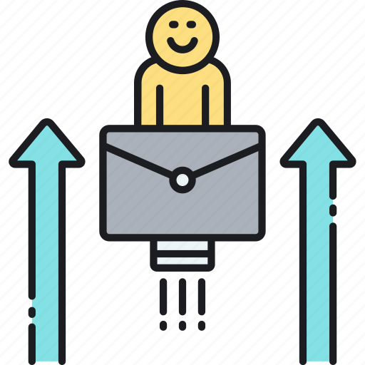 advancement, career, career promotion, promoted, promotion icon