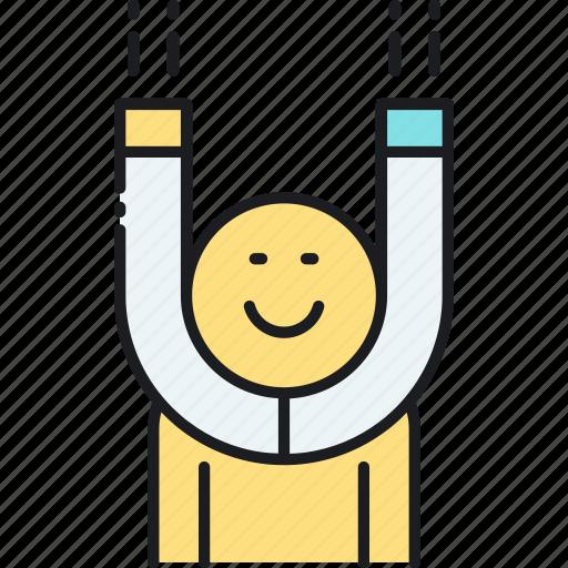 customer, engagement, magnet, retention icon