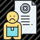 fired, resign, resignation, terminated, termination icon