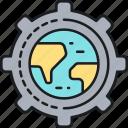global, map, progress, worldwide icon