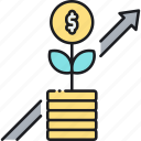 growing, increase, profit, revenue, sale, sales icon