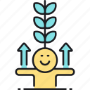 grow, growth icon