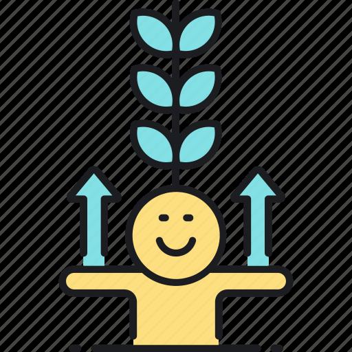 grow, growth icon