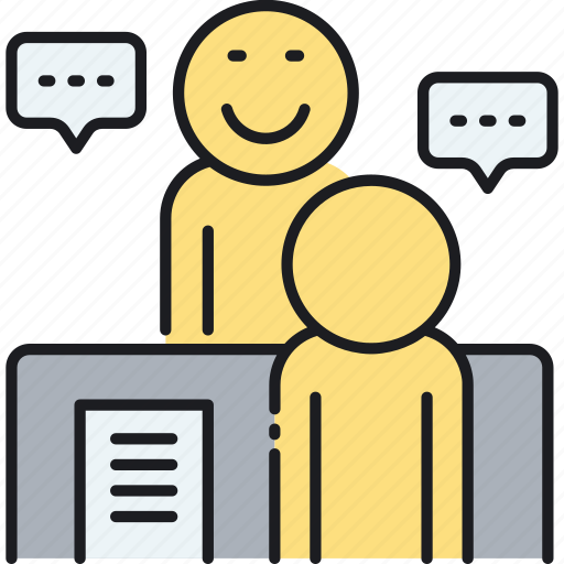 interview, interviewer, job, meeting icon