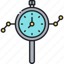 clock, market prediction, time, watch icon