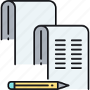 doc, documents, paperwork icon