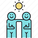 friends, partners, partnership icon