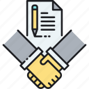 agreement, contract, deal, signing icon