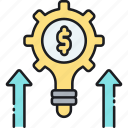 finance, money, technical advantage icon
