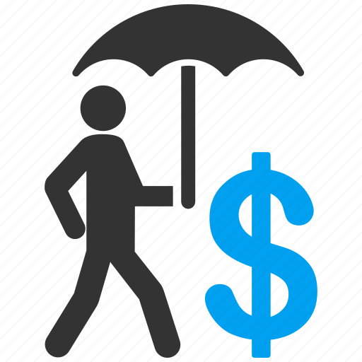 banker, business protection, insurance, safety, security, shield, umbrella icon