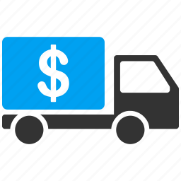 bank car, business, cash delivery, dollar, finance, money, transport icon