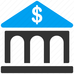 bank building, banking, classic, corporation, financial center, library, museum icon
