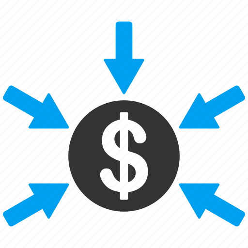 arrows, business, dollar income, gain, payment, profit, trading icon