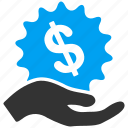 bank payment, donate, finance, financial offer, hand, money, salary icon