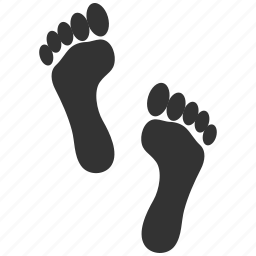 foot step, footprint, footprints, paw, trace, tracing, track icon