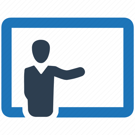business, lecture, presentation, training icon