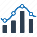 bar chart, business, data, diagram, graph, report, statistic icon