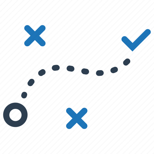 direction, plan, solution, strategy icon