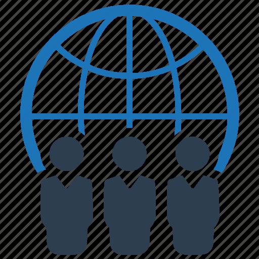 business, communication, community, global icon