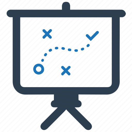 business plan, presentation, strategy icon