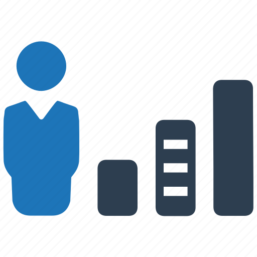analytics, chart, financial report icon