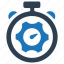 business, control, gear, productivity, time, timer icon