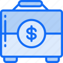 briefcase, business, documents, financial, money, suit case icon