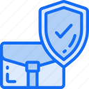 banking, business, secure, shield, tick icon