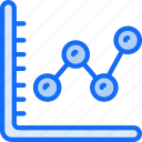 business, chart, data, information, line, research, results icon