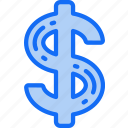 business, currency, dollar, finances, money, sign icon