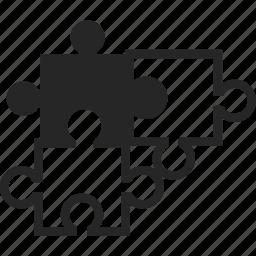 connection, pieces, puzzle, puzzle pieces icon