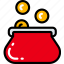 business, ecommerce, money, payment, purse icon