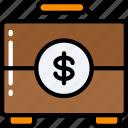 briefcase, business, documents, financial, money, suit case