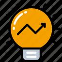 business, ideas, intelligence, light bulb, profit, thinking icon