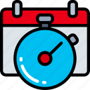 business, clock, deadlines, schedule, time keeping icon