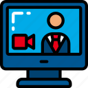 business, call, computer, conference, link, video