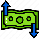 business, currency, exchange, finances, money, rates icon