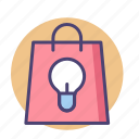 bag, idea, marketing, retail, shopping icon