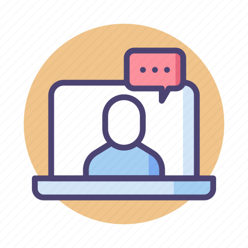 consulting, online, teleconference, video call, video conference icon