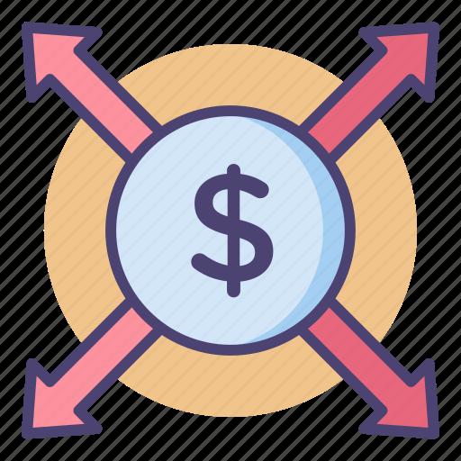 increase, money, opportunity, price, sales icon