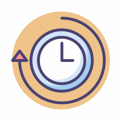 overdue, overtime, time, timeline icon