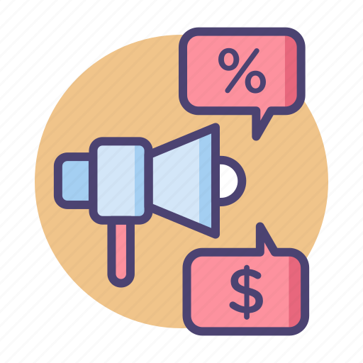 Ad, advertising, discount, loudspeaker, marketing, promotion icon - Download on Iconfinder