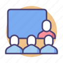 conference, seminar, speech, training, workshop icon