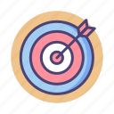 aim, arrow, goal, objective, target icon