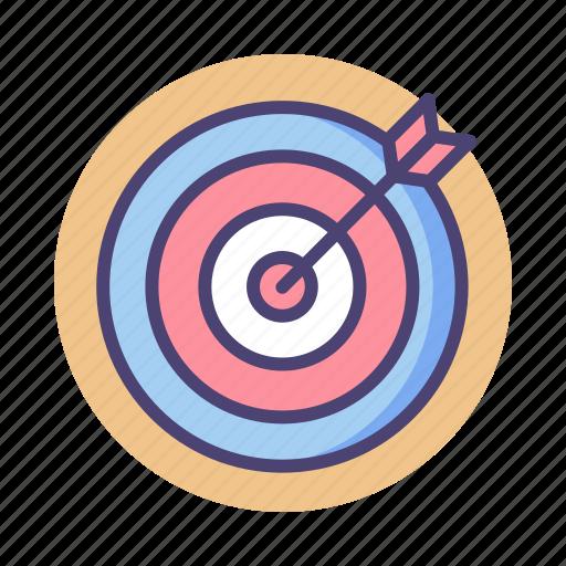 aim, arrow, goal, objective, target icon