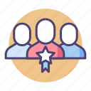 head, lead, leader, star employee of the month, team, team lead, team leader icon