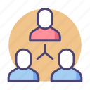 chart, workforce, hierarchy, team, group, leader icon