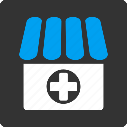 ambulance, clinic, drug shop, drugstore, hospital, medical, pharmacy icon