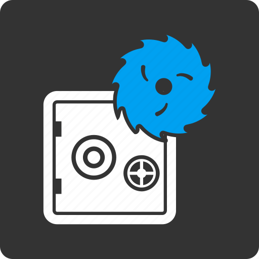 circular saw, equipment, hacking, protection, safe, security, theft icon