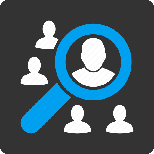 audit account, customer, find users, marketing, person, search people, view profile icon